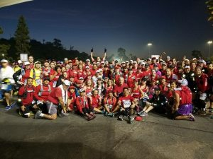 Pasadena Pacers before the start of the 2017 Los Angeles Marathon